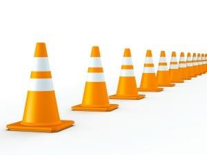 Orange Detour Cones
